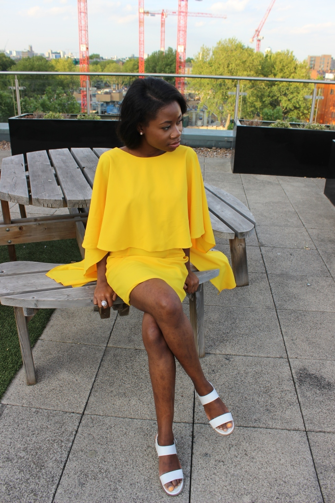 Yellow Dress, Layered Dress, Zara, Penthouse Roof Top, Beautiful black girl, petite blogger, petite blog, Vogue, Zara, Primark Shoes, White Shoes, White court Shoes, Ali Express, Weave, Yellow Canary, The Flash,