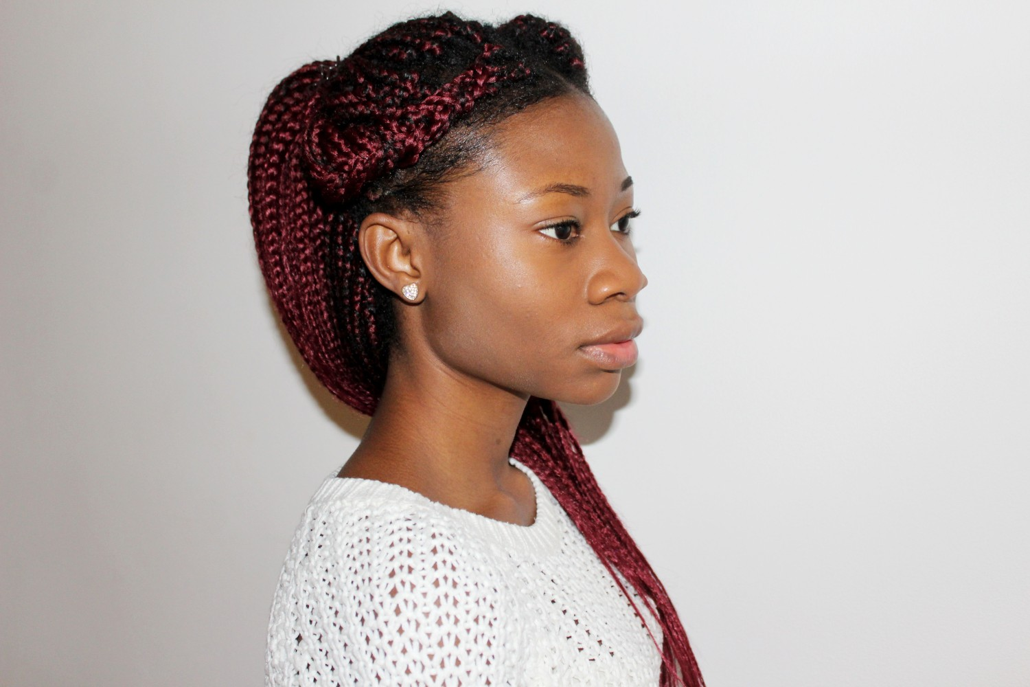 Dior, Luxury, Beauty, Petite, Blogger, Black, Beauty Blogger, Braids, Burgundy braids, Flawless Skin,