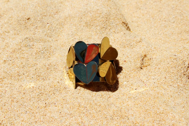 Travel, Womenswear, Accessories, Gold embellished bracelet, Love Bracelet,