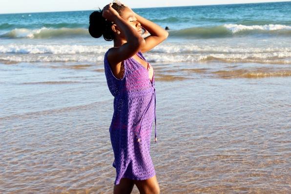Freya Spirit Beach Tunic Dress, River Island Swimwear, Coral, Pink, Bikini, Coral Bikini on a black girl, Travel, Tourism, Beach, Life's A Beach, Portugal, Algarve,